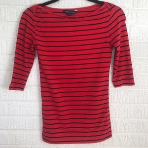 🌸JUST IN🌸French Connection Red Striped Shirt